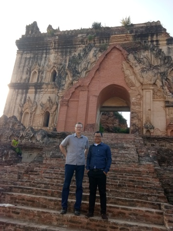 Steve and Moses at Temple Ruins