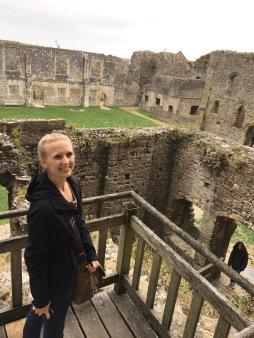 Portchester Castle ruins