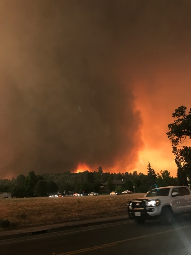 The Carr Fire roars toward Lake Redding Estates, where the Gonzalez family lived.